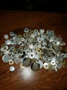 Vintage Sewing Buttons Collection Mother Of Pearl Solid Antique Repair Repurpose