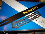 Poulan Pro Chainsaw Bar And Chain Combo 20 Pitch 3/8 70l Gauge 050 530044687
