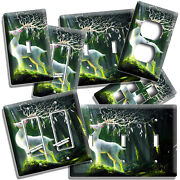 Fantasy Deer Antlers Enchanted Forest Light Switch Outlet Wall Plates Room Decor