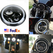 1pc 7100w Led Headlight Dual Color Halo Angle Eyes For Jeep Wrangler Motorcycle