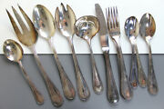 Towle Beaded Antique 11x Serving Pieces Silverplate Germany Lot Spoon Fork Knife