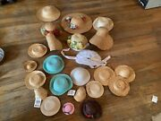 Vintage Doll Hats Straw Collection Estate Large Lot Wangs Assorted Sizes Colors
