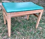 Antique Vintage Vanity Bench Stool Chair Seat Solid Piano Bench Wood