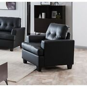 Molina 36 Oversized Flared Arm Living Room Chair Couch Upholstered Faux Lea...