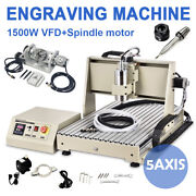 Usb 5 Axis 1.5kw Spindle+vfd 6040 Engraver Cnc Router Milling Machine+handrad Us