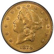 1878-s 20 Gold Liberty Head Double Eagle Pcgs Xf45 - Verified Authentic