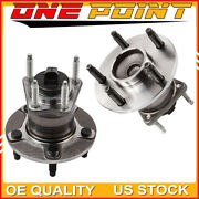 Set Of Rear Wheel Bearing And Hub For Chevy Cobalt Malibu Pontiac G6 Aura W/ 5lug