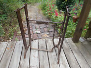 Antique Steel And Cast Iron Singer Treadle Sewing Machine Base Legs/middle Brace
