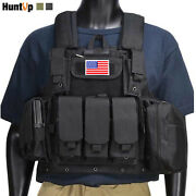 Military Tactical Vest With/without Flag Patch Loaded Gear Molle Plate Carrier