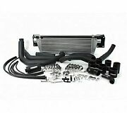 Perrin Front-mount Intercooler Kit For 08-14 Sti - Silver Core Black Piping