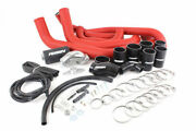 Perrin Front-mount Intercooler Kit For 08-14 Wrx - Silver Core Red Piping