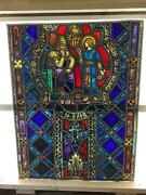 Antique German Stained Glass Church Window From A Closed Church - V7