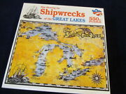 550 Piece Jigsaw Puzzle Map The Shipwrecks Of The Great Lakes 1991 Vintage S91