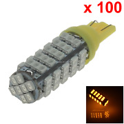 100x Yellow Car T10 W5w Side Light Lamp Marker Lamp 68 1206 Smd Led A051