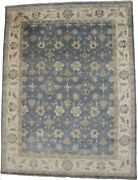 Hand-knotted Palace Floral Oushak 12x16 Slate Grey Oversized Rug Oriental Carpet