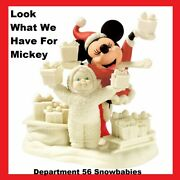 Department 56 Disney Snowbabies Look What We Have For Mickey 2005 New / Box
