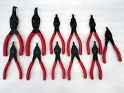 11pc Snap-on Convertible Snap Retaining Ring Pliers Set Red Handles Srpc112o Usa