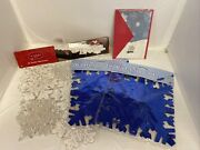 Misc. Christmas Decorations Table Runner Snowflake Garland Christmas Card New