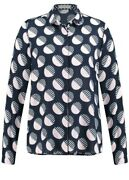 Gerry Weber Blouse, Navy White Pink Printed Viscose Size 12 Uk Rrp £75