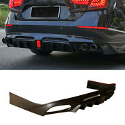 For Honda Accord 2018-2021 Unfinished Rear Bumper Spoiler Diffuser With Lights