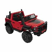 Huffy Kids Ride On Car Toy Crawler Led Headlight 2 Speeds Realistic Sounds Red