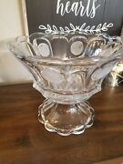 Fostoria Coin Glass Clear 14 3/4 Punch Bowl W/base 145459