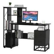 51 High Gloss Tv Unit Cabinet Stand With Rgb Led Lights Shelves Home Furniture