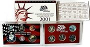 2001-s United States 10-coin Silver Proof Set - W/ Box And Coa