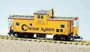 Usa Trains 12128 Chessie Illuminated Ext. Vision Caboose 903112 - Metal Wheels