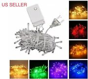 Lot Connectable 10m 100 Led Christmas Tree Fairy String Party Lights Lamp X'mas