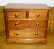Solid Cherry Antique Style Small Dresser Jewelry Box - 11 X 5 3/4 X 10 1/4