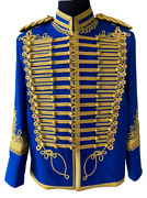 Hussar Jacket Coat Napoleonic Military General Officers Tunic With Aiguillette