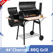44charcoal Grill Stove Barbecue Outdoor With Wheels Thermometer Air Vent Family