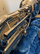 Yamaha Ybh301 Silver-plated Marching Baritone With Hard Case And Mouthpiece