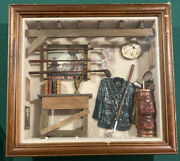 Vintage The History Of Golf Antique Collectible Shadow Box Clubs Clothes Room