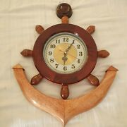 Anchor Wooden Wall Clock - Any Room Wall Clock Just For You