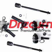 6pc Front Inner Outer Tie Rod Ends Lower Ball Joints For 1991-95 Dodge Caravan