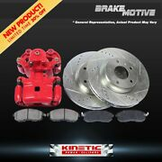 Front Brake Calipers And Rotors + Pads For 2005 - 2008 2009 2010 Honda Odyssey