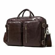 Large Capacity Fashion Men Briefcases Leather Business Document Bags Travel Bag