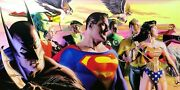 Alex Ross Rare In The Light Of Justice Oversized Canvas Unframed Signed Coa