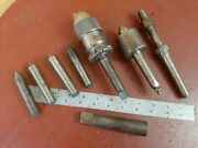 Big Lot Lathe 2 3 Morse Taper Tooling Centers Dead Live Drill Chuck Sleeve Arbor