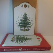 Nikko Christmastime Ceramic Snack/cheese Board In Box 9 X 5 3/4/excellent