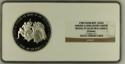 1989 Dominican Republic Silver 5oz America Discovery 500th Medal Ngc Pf66uc