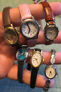 Timex Womens Watches Lot Of 6 Wrist Watches