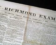 Rare Confederate Richmond W/ Battle Of Fort Henry Tennessee Civil War 1862 News