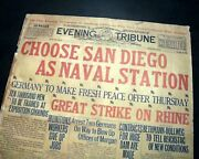Best United States Navy Pick San Diego California As Pacific Base 1917 Newspaper