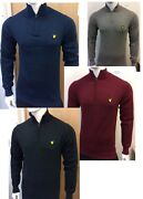 Menand039s Lyle And Scott Long Sleeve Half Zip Jumper For Winter