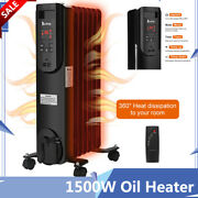 1500w Oil Heater Safe Space Radiator Heater Large Room High Efficiency Portable