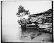 1896 Photo Of A Rocky Point Pointe Aux Barques D