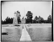 1896 Photo Of U S Life Boat Station Pointe Aux Barques A